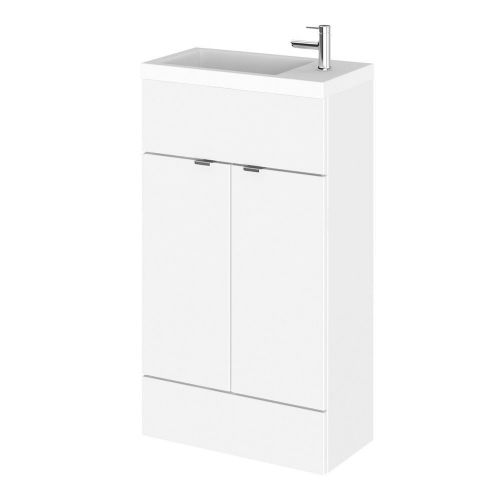 Elite White Gloss 500mm Compact Vanity Unit & Basin